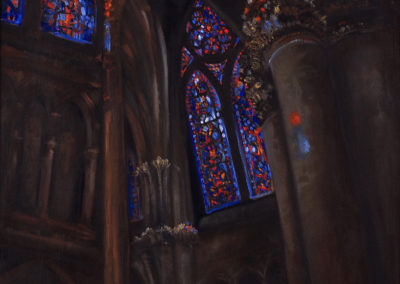 Cathedral Fantasy Series: Cathedral I – Oil on Jute – 36″ x 24″