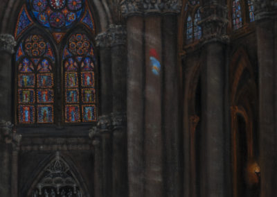 Cathedral Fantasy Series: Cathedral II – Oil on Jute – 36″ x 24″