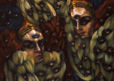 "Three Seraphim – Oil on Canvas 24""×36"""